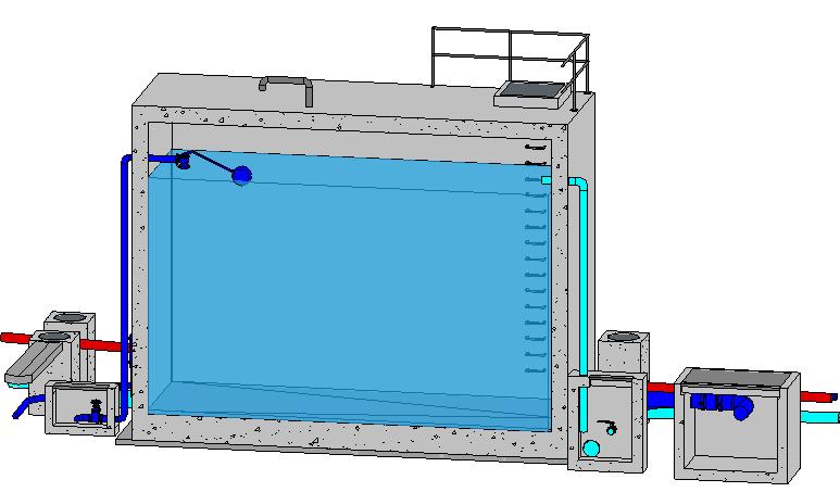 Depósito con lámina de agua